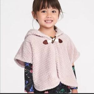 4T Old Navy Dusty Rose Hooded Poncho Girls